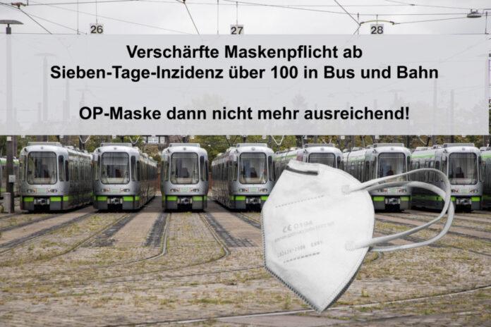 Straßenbahn - FFP2 Maske