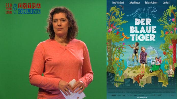 Filmplakat Der Blaue Tiger und Eva-Maria Schneider-Reuter