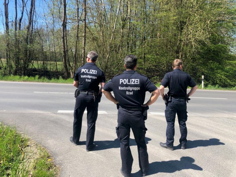 Kontrollgruppe Krad der Polizei