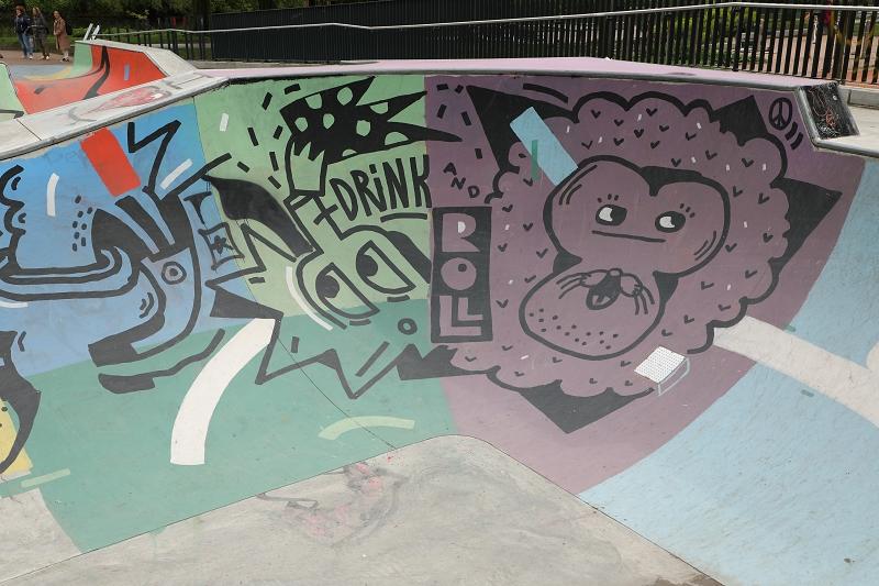 Skaterbahn Graffiti