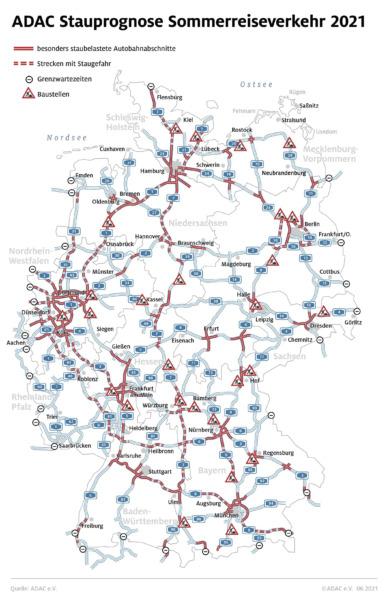 Grafik Stau Autobahn