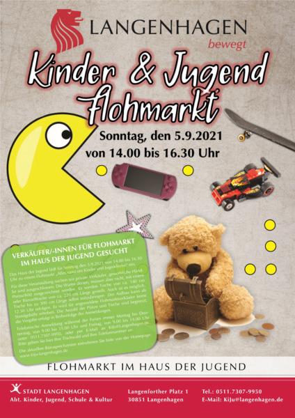 Plakat Flohmarkt in Langenhagen