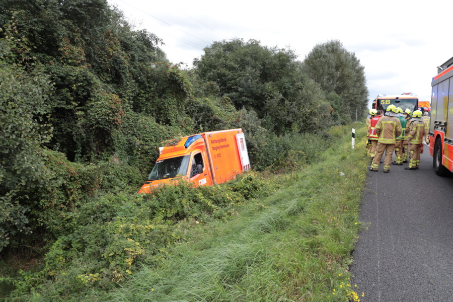 Unfall Rettungswagen A2