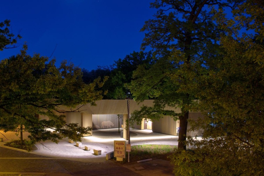 Eingang Erlebnis-Zoo Hannover - Lichtdesign