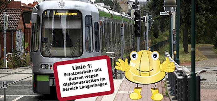 Schienenersatzverkehr - Linie 1