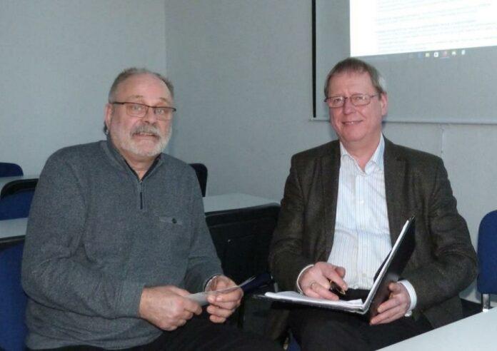 Jochen Lauenstein (auf dem Foto links) und Wilhelm Zabel (rechts) vom